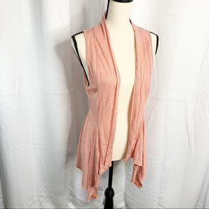 Maurice's orange sleeveless cardigan sweater M
